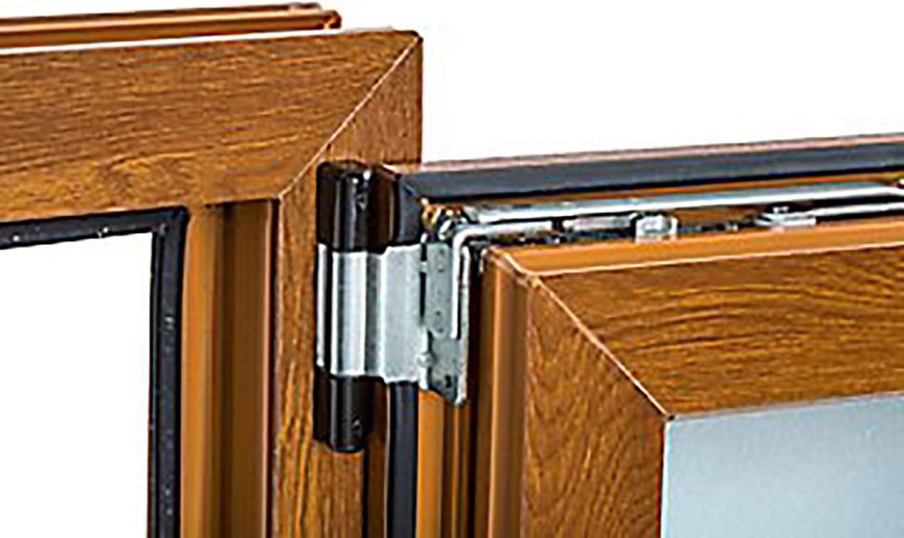Ventana PVC 50 cm x 50 cm | REGALO Garras de Fijación | Cuarto de Baño | Oscilobatiente | Alto aislamiento termico y acustico | Vidrio Mate | Practicable | Roble dorado | Apertura Derecha: Amazon.es: Bricolaje y herramientas