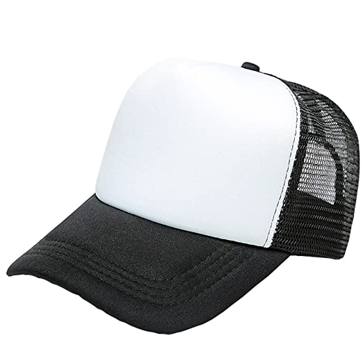 7c3d08a9037 Small-Mark Two Tone Trucker Hat Summer Mesh Cap with Adjustable Snapback  Strap Baseball Hat