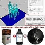 IFUN 3D Printer Resin Clear 405nm HiClear HiTemp