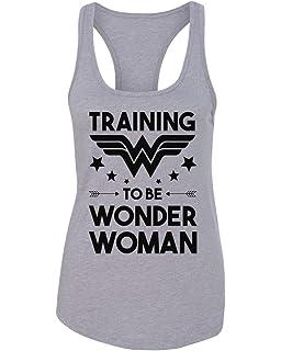 33f3d62c1e476 Amazon.com  Wonder Woman Lifts Racerback Gym Workout Womens Tank Top ...