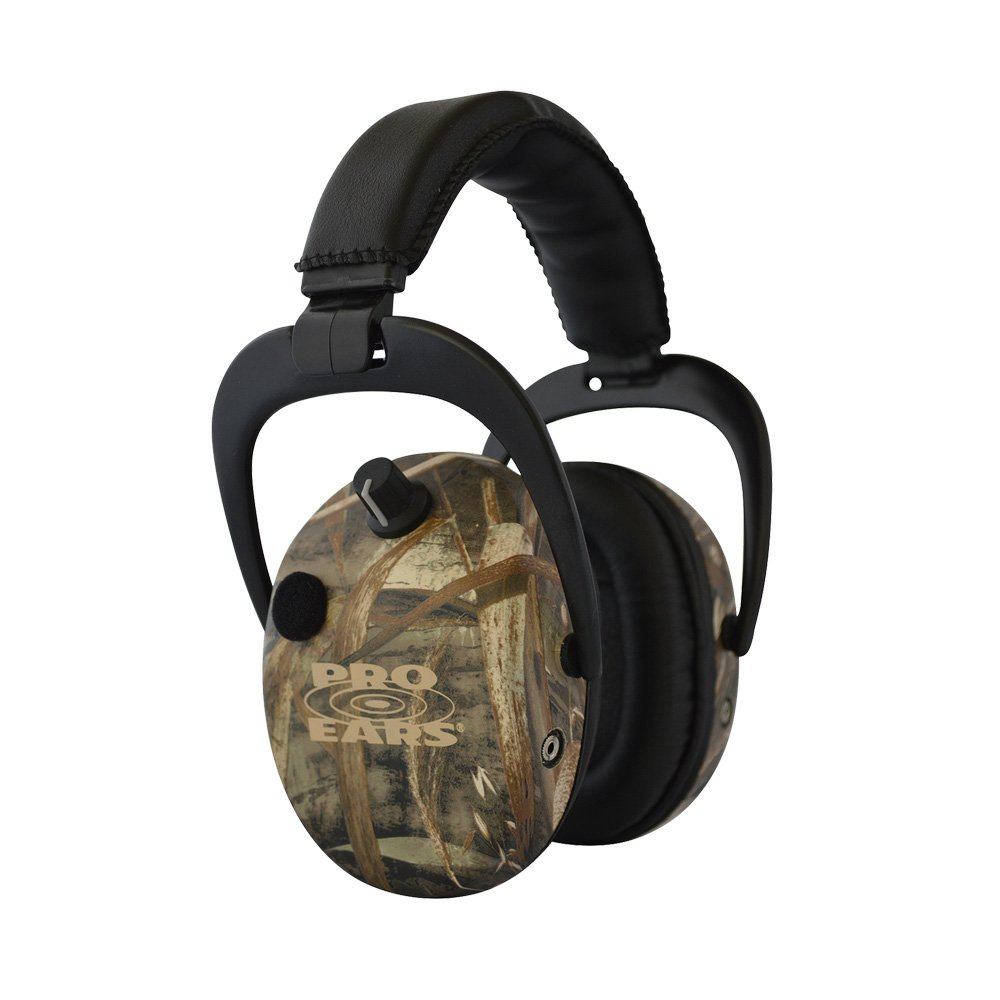 Pro Ears - Stalker Gold - Electronic Hearing Protection and Amplification Earmuffs - NRR 25 - Max 5 Camo by Pro Ears