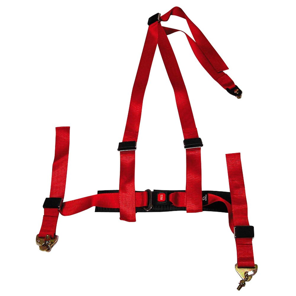 Racing Seat Belt 3-Point Red + E-mark (2-inch)