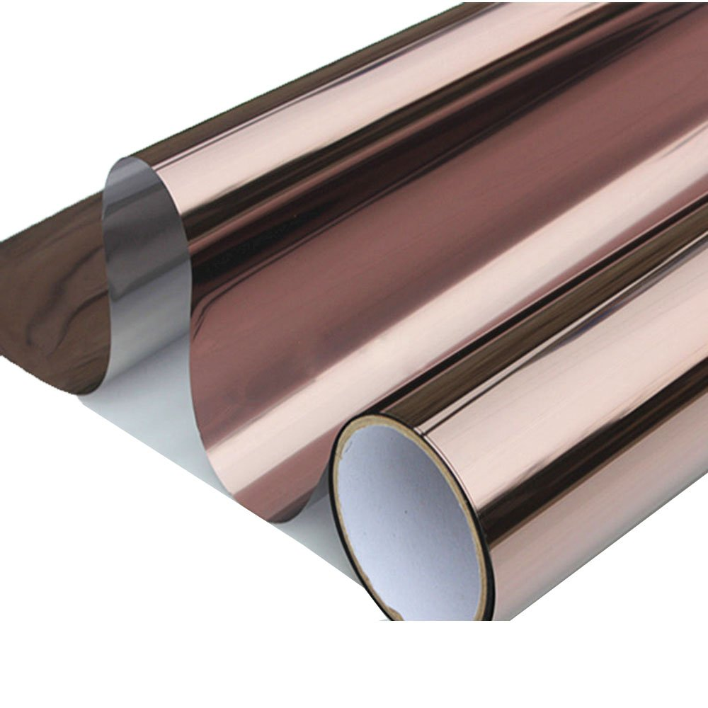 HOHO Solar Bronze Silver Window Tint Film One Way Vision Reflective Window Film 20''x60''