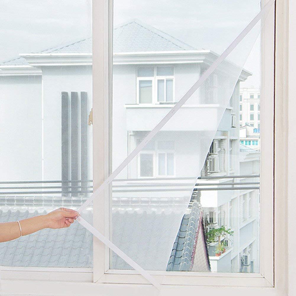 Upgrade Window Insektenbildschirm Mesh Net mit 3 Selbstklebendem Klettband f/ür Fenster in Wei/ß Insektenschutz Fenster Fliegengitter DIY Zuschneidbar 130 x 150 cm