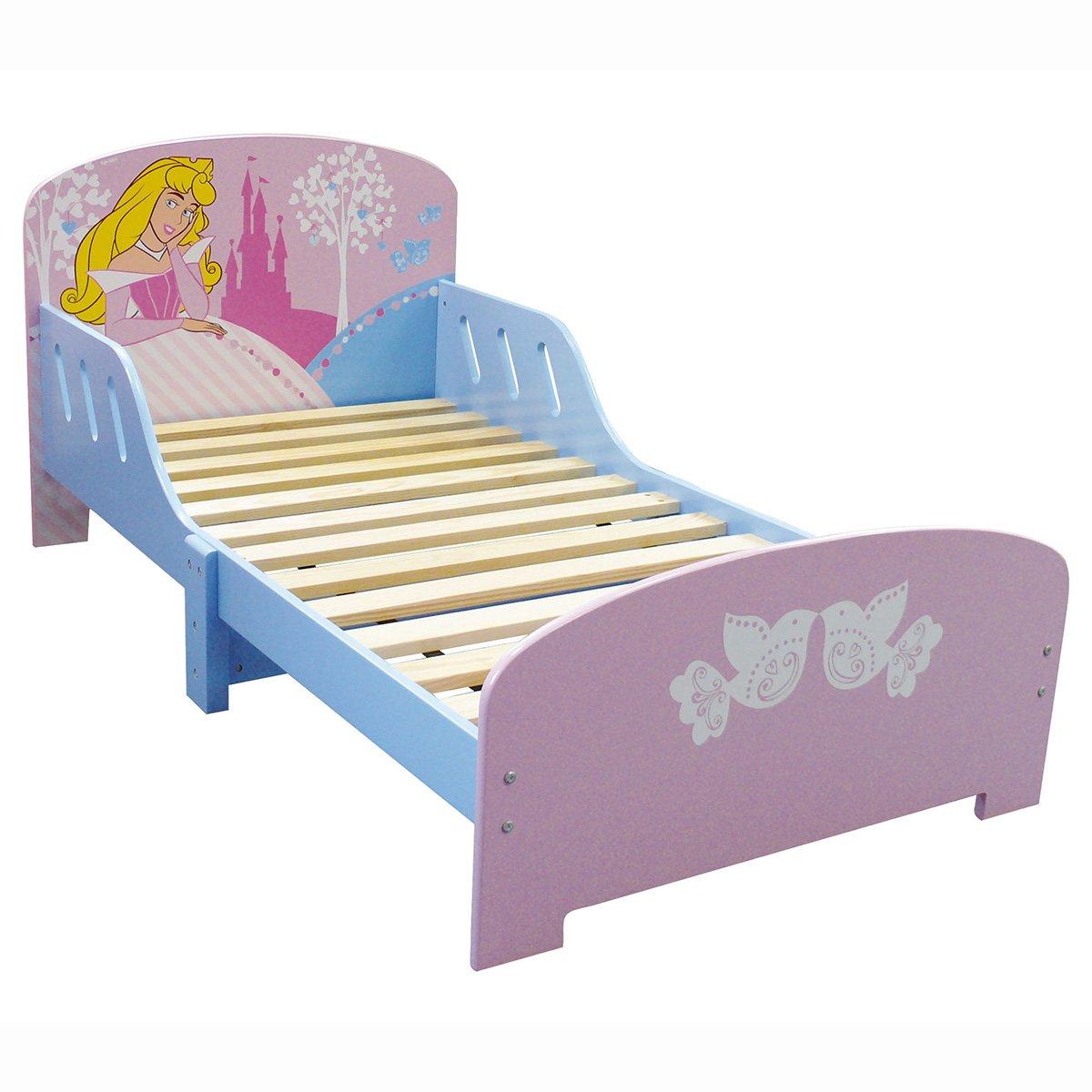 FUN HOUSE 712240 Disney Princesses letto per bambina, con doghe in legno MDF, colore: rosa, 144 x 59 x 77 cm CIJEP - JEMINI