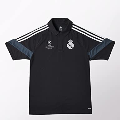 adidas Polo Real Madrid Entrenamiento, Negro: Amazon.es: Deportes ...