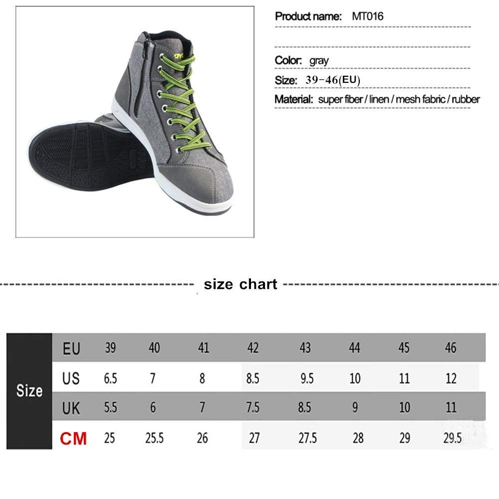Motorcycle Shoes Men Streetbike Casual Accessories Breathable Protective Gear Powersport Anti-slip Footwear 7