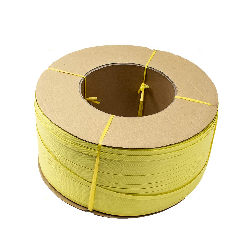BROCK Poly Strapping Coil 600lbs Yellow Banding Strap 1//2 x .020 x 7200 Core 8 15 1//4 D x 7 W