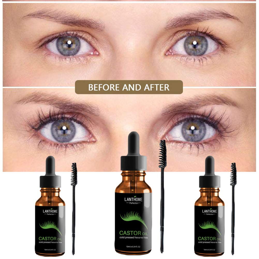 periwinkLuQ Sérum de crecimiento de pestañas 100% puro aceite de ricino - estimule el crecimiento para el pelo, pestañas, cejas, hidratar la piel, ...