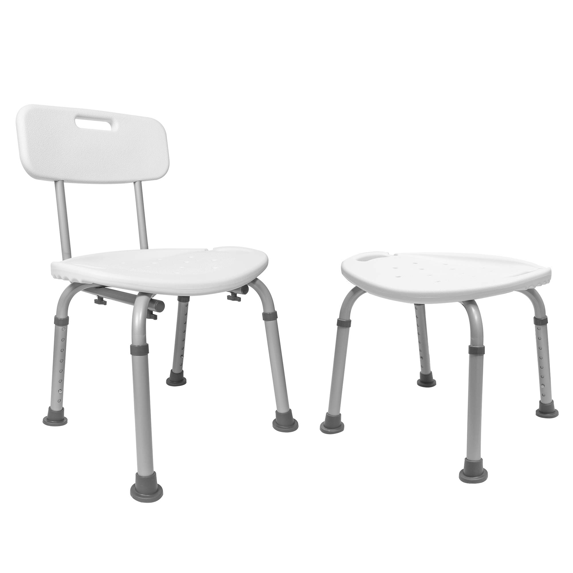 Medical Tool-Free Assembly Spa Bathtub Adjustable Carex Shower Chair Seat Bench with Removable Back by Vaunn (Image #3)