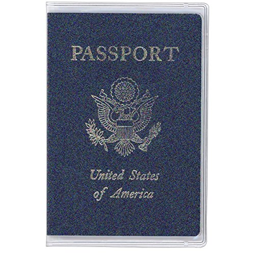 Estiq Plastic Passport Cover Passport Protector (Pack of 5) (Frosted)