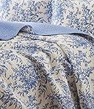 quilt cotton queen blue - Laura Ashley Bedford Cotton Reversible Quilt Set, Full/Queen