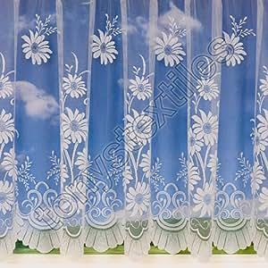 Tony's Textiles - Visillo (106,6 cm, poliéster), diseño de margaritas