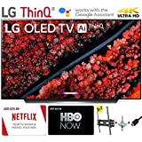 """$1796 » LG Electronics OLED55C9PUA C9 Series 55"""" 4K Ultra HD Smart OLED TV (2019) w/$25 Netflix and HBO Now Gift Cards w/3 in 1 Wall Mount kit- Wall Mount, HDMI Cable, TV Cleaning Kit - LG Authorized Dealer"""