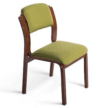 Fauteuils Chaise En Bois Solide Detachable Facile A Nettoyer Et Chaises Couleur D