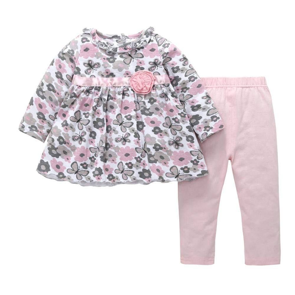 Two-Piece Set Baby Floral Clothing Little Girls Baby Costume Gentman