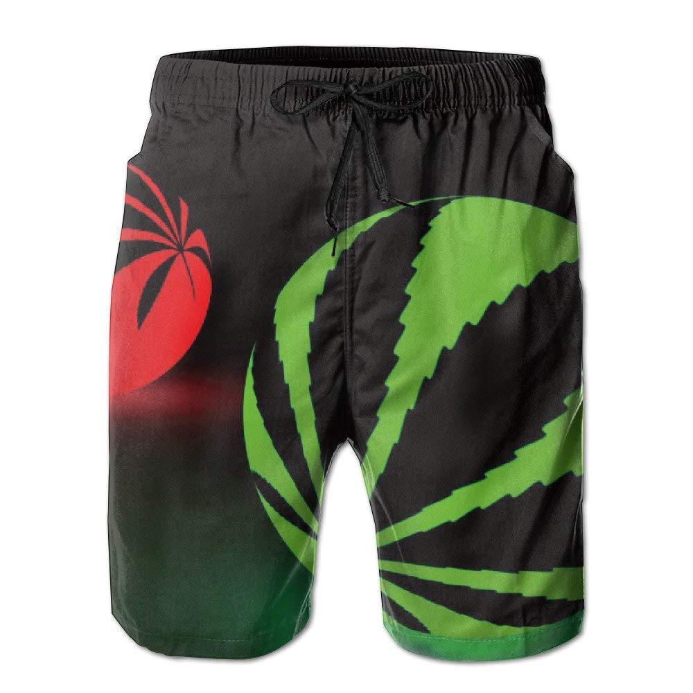 BBggyh Mens Weed Ball Board Shorts Swim Trunks