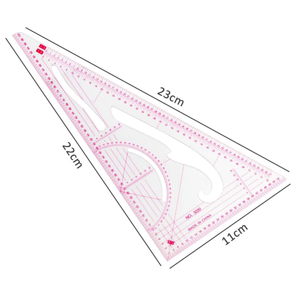 CCMART 4 Stlye - Regla de curva francesa para costura, regla métrica ...