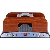 CLISPEED 2 Deck Card Shuffler Electronic Shuffler Machine Automatic Poker Shuffler Portable Casino Card Shuffler Playing…