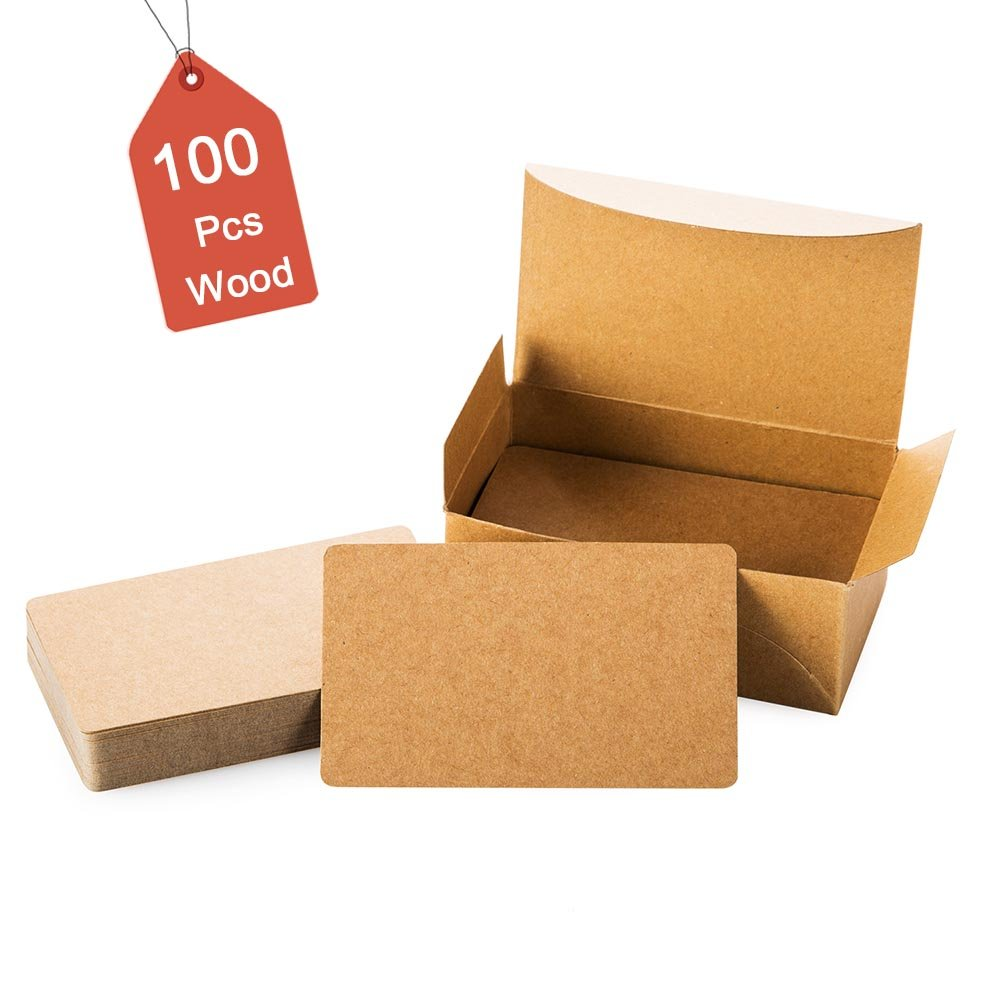 100Pcs Blank Black Cards Kraft Note Paper Business Cards Vocabulary Word Card Message Card DIY Gift Card Blank Paper Tags(Black)