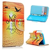 Apple iPod Touch 5/Touch 6 Case -MOLLYCOOCLE®[Sunset Bird]Stand Wallet Purse Credit Card ID Holders TPU Soft Bumper PU Leather Ultra Slim Fit Cover for iPod Touch 5 5 Generation/Touch 6 6 Generation