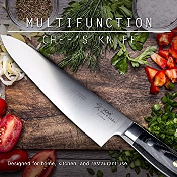 Chef Knife 8 Inch: By Xm Home & Kitchen; Premium Very Strong High Carbon Full Tang German Steel Blade Extremely Sharp; Made For Chopping & Slicing Of All Foods - A Chefs Kitchen Knife You Must Have 2