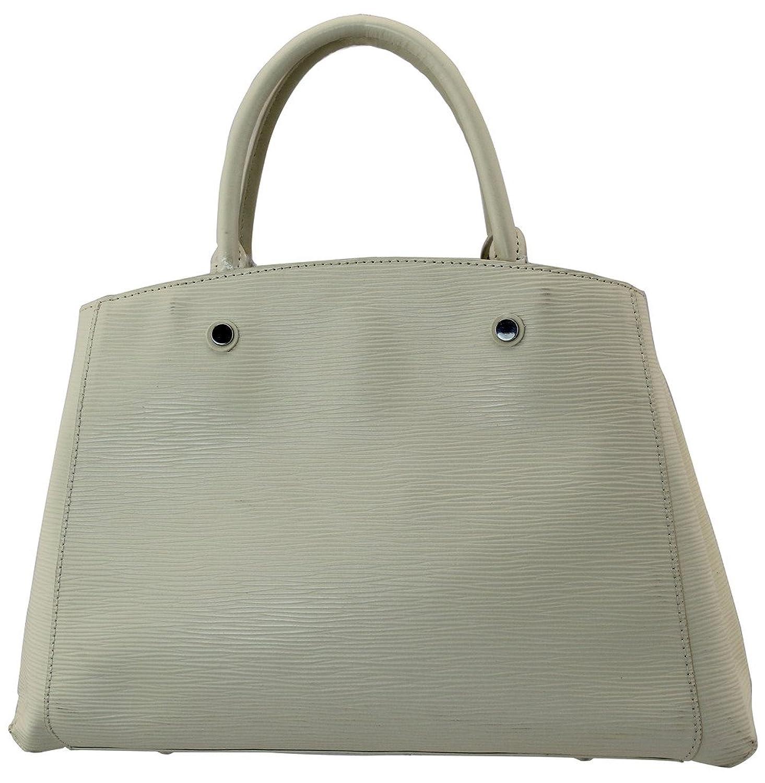 Meqiero Top Handles Patent Leather Structured Tote Handbag