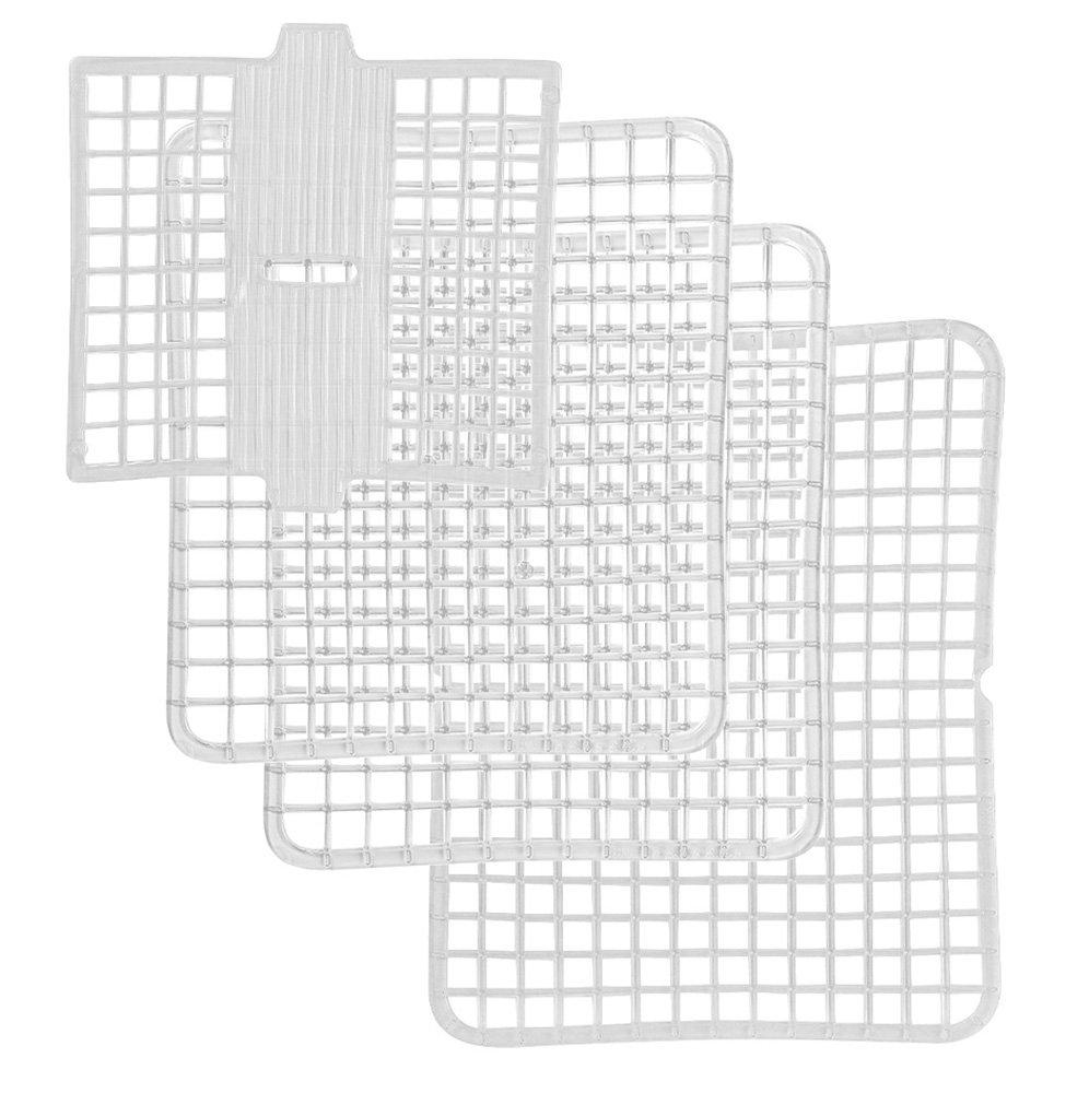 ELIPLAST Linea Lavello Set Tappetini Piccolo, Blu, 30 x 30 x 30 cm, 4 unità 255/4 14