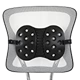 BackJoy Perfect Lumbar Orthopedic Lumbar Support for Back Pain | Perfect for Office Chair or Car Seat with Adjustable Strap, Perfect Fit Lumbar Support