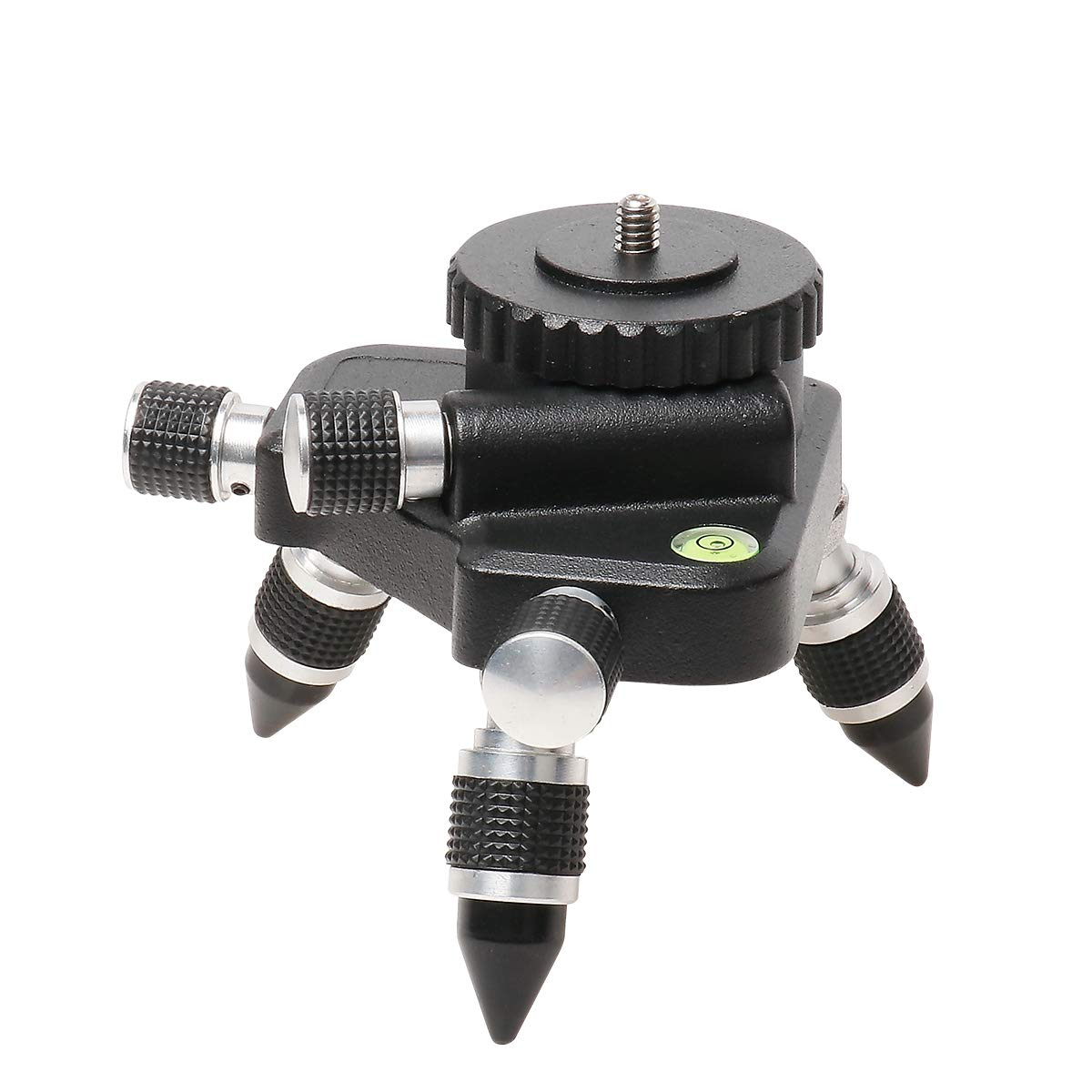 360/° Rotating Base for Line Laser Level Tripod Connector Adjust Fine Turning Pivoting Base Manually Operated Micro with Standard 1//4 Threaded Mount Huepar AT2 Bracket Laser Level Adapter