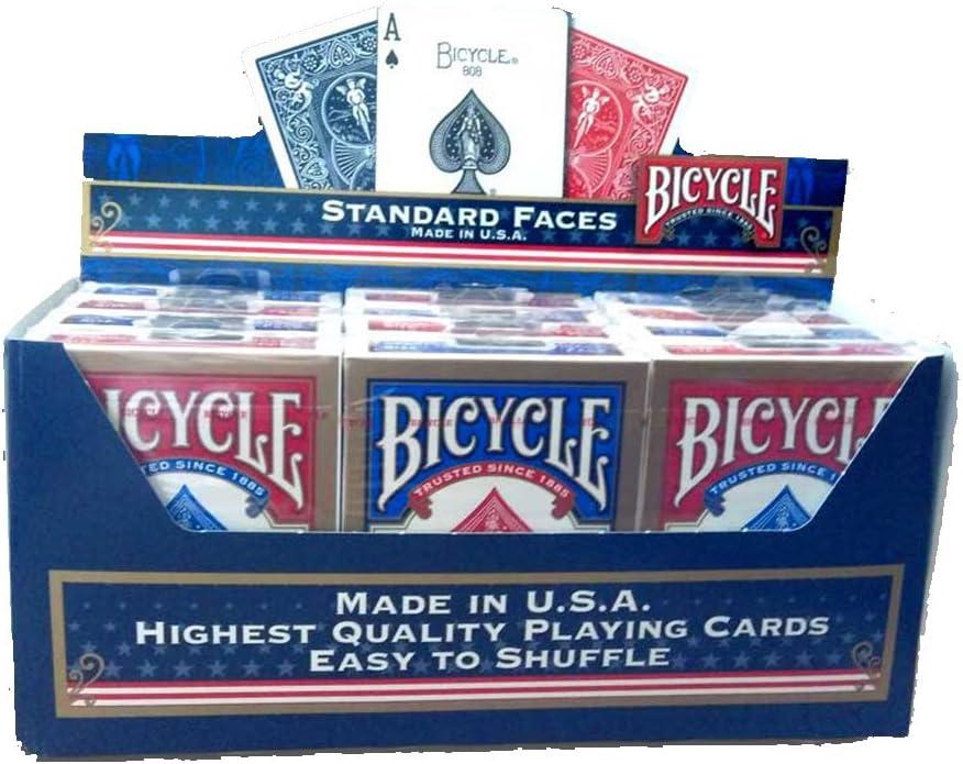 Bicycle Paquete de 12 Tarjetas de Poker estándar (6 Azul/6, Color ...