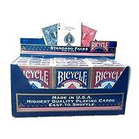 BICYCLE Cartouche de 12 jeux Standard (6 Rouges / 6 Bleus)