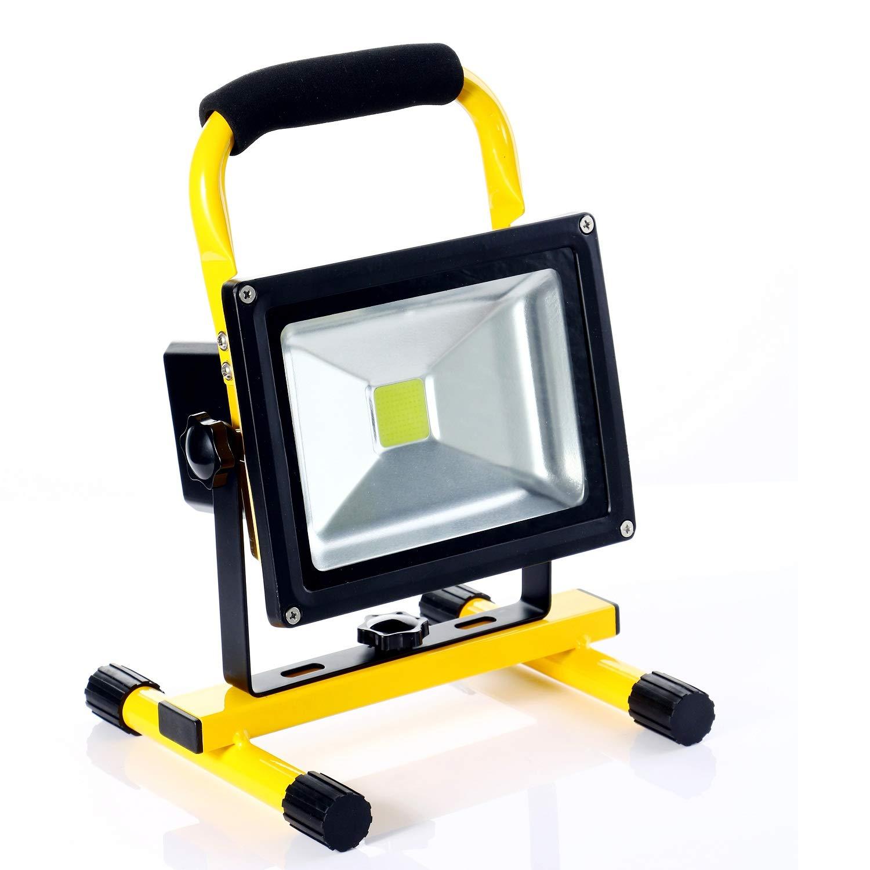 ALFLASH 1800 Lumen LED Luce da lavoro portatile ricaricabile Luce di inondazione Alimentato a batteria Proiettore Lampada a mano Spotlight per officina Garage da giardino Riparazione auto (30)