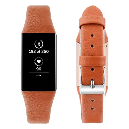 Amazon com: certainPL For Fitbit Charge 3 Bands, Leather Strap