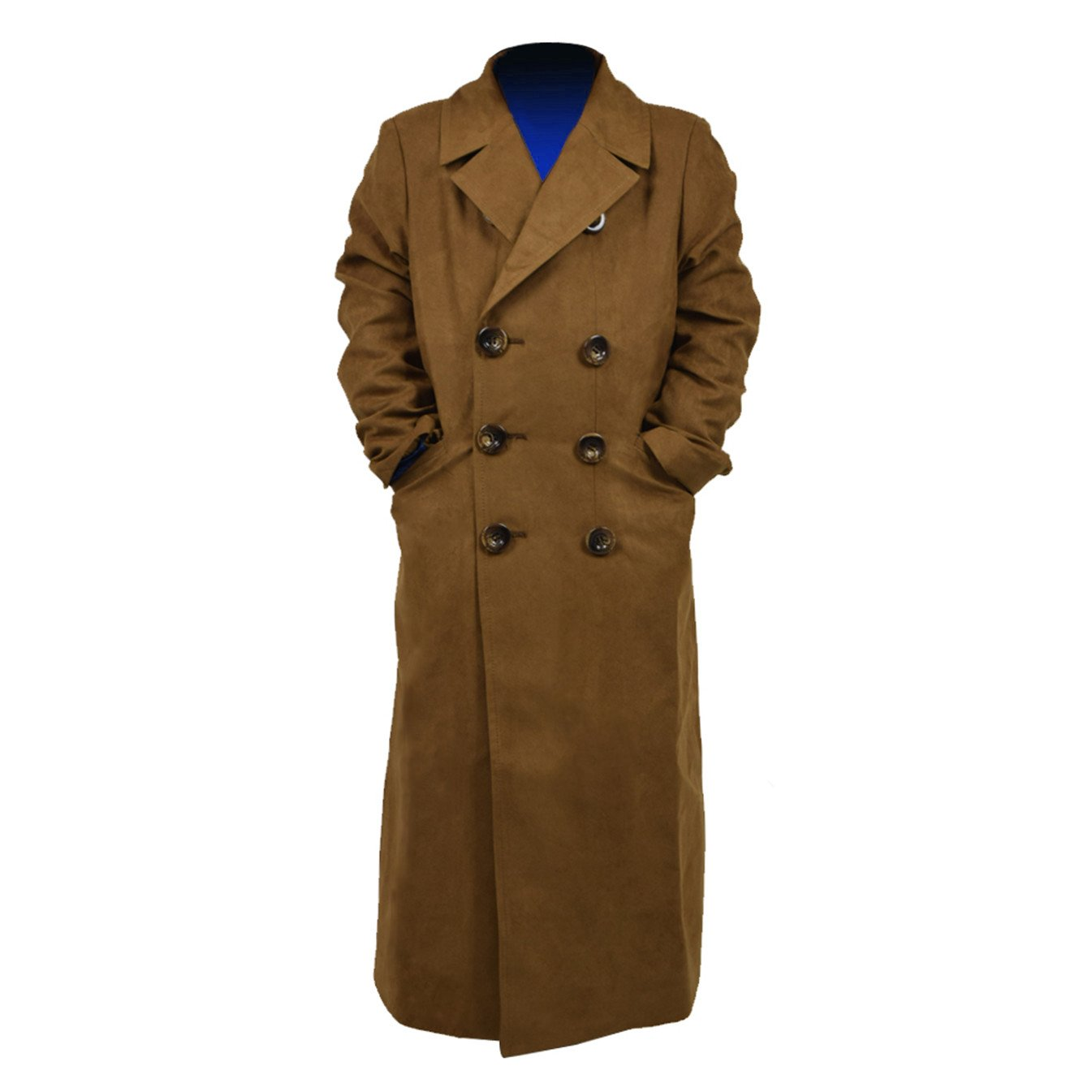 YANGGO Children's Party Halloween Outfit Cloak and Trench Coat Costume (X-Small, Brown Trench Coat)