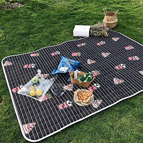 QINCH Home Strandmatte-Strandmatten-Picknicktuch der Wasserdichten Picknickmatte Picknickmatte Picknickmatte im Freien (Farbe   schwarz, Größe   140  200cm) B07L133V53 Picknickdecken Sehr gute Qualität 2bd0c2