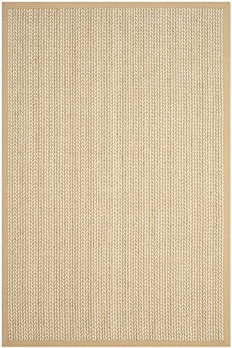 Safavieh Natural Fiber Collection NF475B Hand Woven Beige Wool & Sisal Area Rug (6
