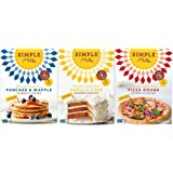 Simple Mills Naturally Gluten-Free Almond Flour Mix, Pancake & Waffle, Pizza Dough and Vanilla Cupcake & Cake, 3 Count