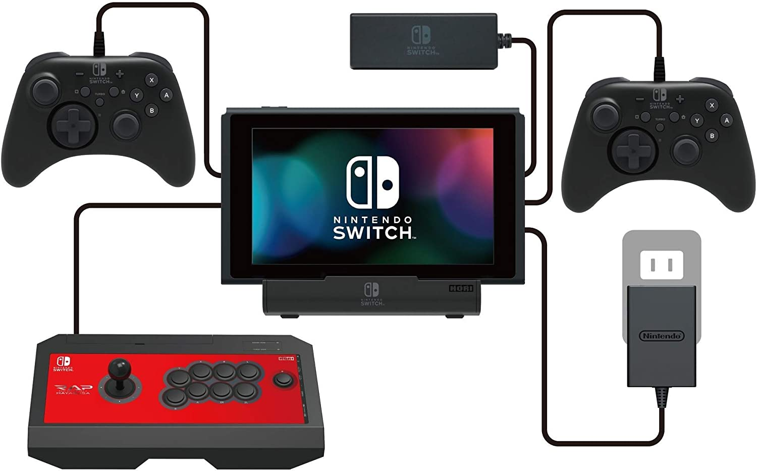 HORI - PlayStand Multipuerto USB (Nintendo Switch / Switch Lite ...