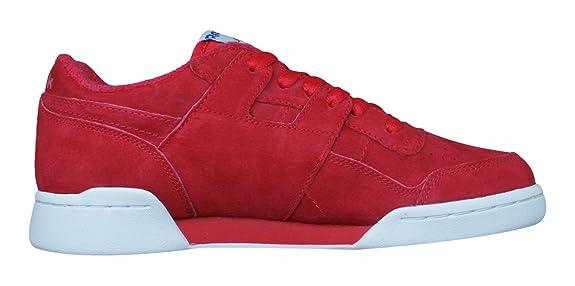 Amazon.com | Reebok Classic Workout Plus Vintage Mens Sneakers/Shoes | Fitness & Cross-Training