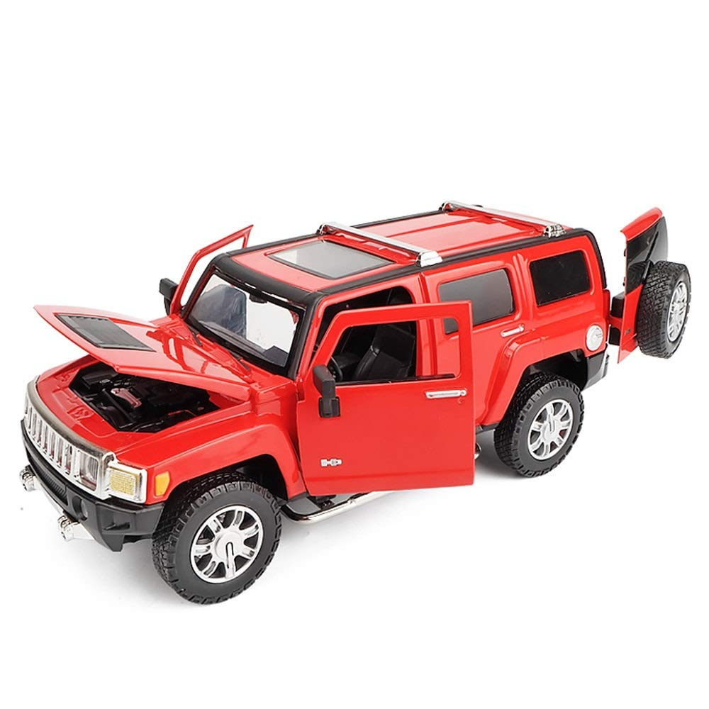 Piarner Alloy Car Model 1:24 Simulation Alloy Car Children's Toys Children's Toy Car Large Pull Back Car LED Light Birthday Gift Simulation Static Alloy Car Mold Body Boy Toy ( Color : Red )