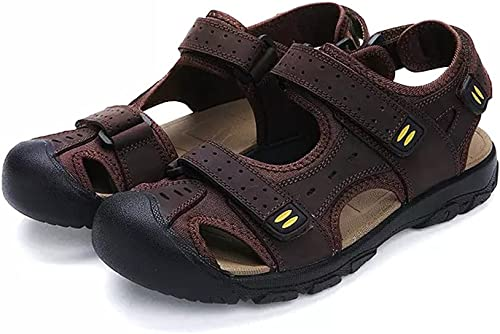 Mens Leather Sandals Sport Sandal Hiking Shoes casual comfy outdoor Sandles