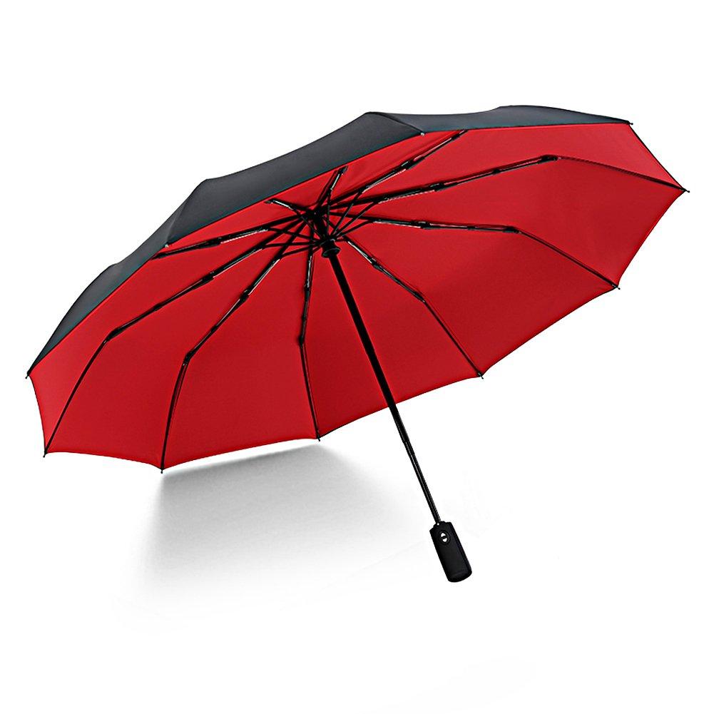 CASEETO Umbrella Compact Travel Umbrella Folding Umbrella Auto Open and Close 10 Ribs Patio Umbrella [Windproof & Rainproof]
