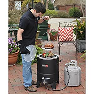 Most Popular Best Selling Professional Char-Broil Outdoor Big Easy Oil-Less Propane Turkey Fryer 16,000 BTU Perfect For Thanksgiving No Oil