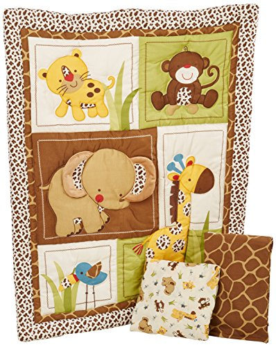 Theme Bedding Set - NoJo Little Bedding Jungle Dreams 3 Piece Crib Bedding Set