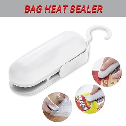 Edealing 2 en 1 bolsa de mano sellador de calor - Perfecto para comida y merienda Bolsa de almacenamiento - Corte y sellado rápidamente hacer comida ...