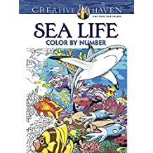 Creative Haven Sea Life Color by Number Coloring Book