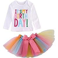 beb/é Verano Chicas Gato Camiseta Impresa Tutu Falda Trajes Set 1-6 a/ños ESHOO Las ni/ñas Falda Conjunto