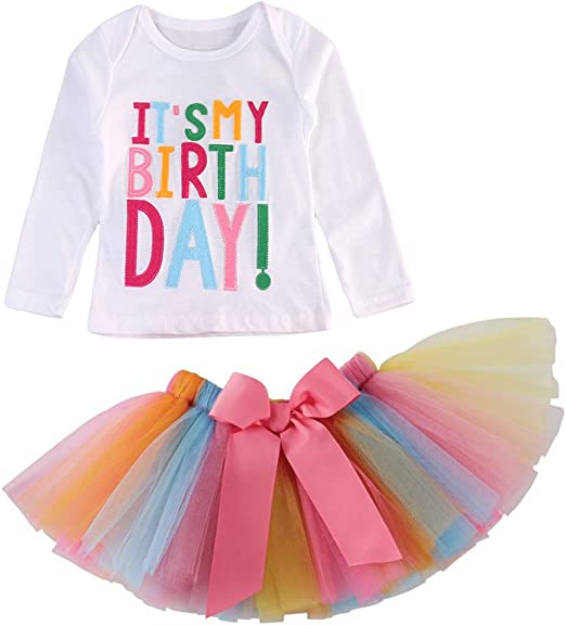 handmade clothes girl skirt party balloons multi colour birthday size 4