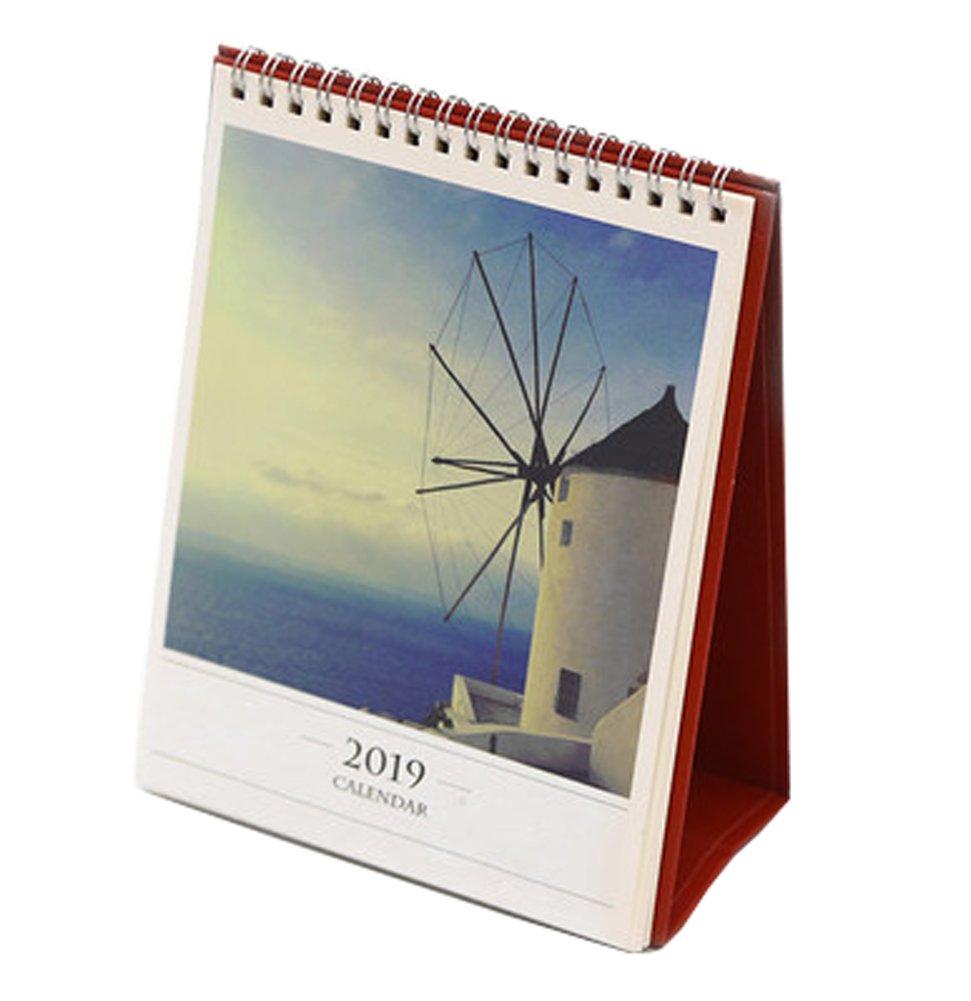 2018 – 2019クリエイティブシンプルな美しい風景カレンダー、y1   B07FF1B2BN
